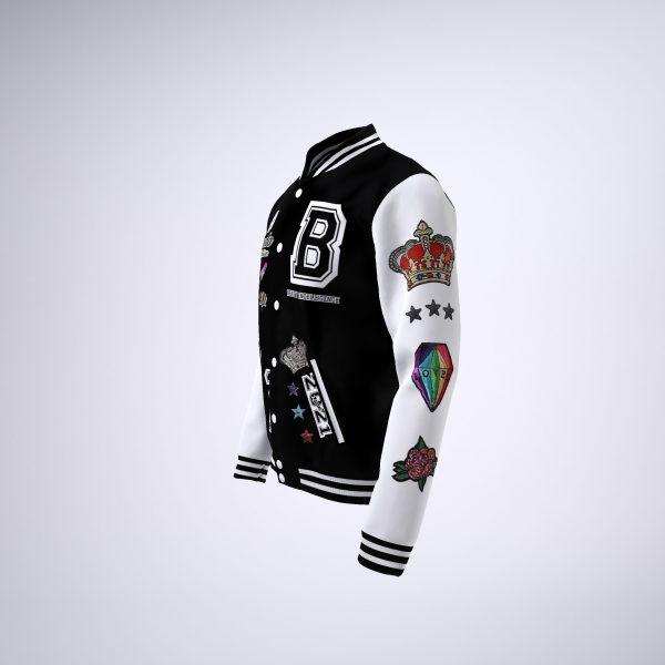 BIQ Letterman Jacket BW 4